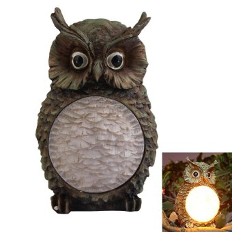 Harga Solar Owl Light Garden Yard Decor Bird Light - intl
