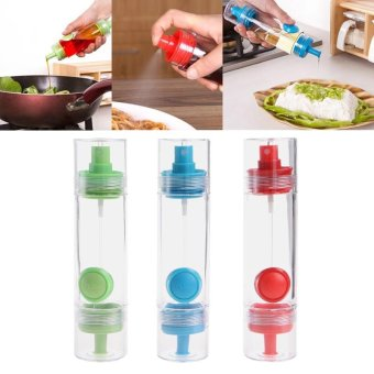 Harga Oil Vinegar Spray Dispenser Pourer Acrylic Container BBQ Pastry Cake Tool Cooking Tool Sets Kitchen Toos Food Grade PS+Rub Green - intl
