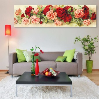 Harga 5D Diamond Embroidery Painting Rose Flower Cross Stitch DIY Craft Home Decor