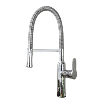 Harga The Best Quality kitchen faucets hot and cold water sink square faucet (Silver)
