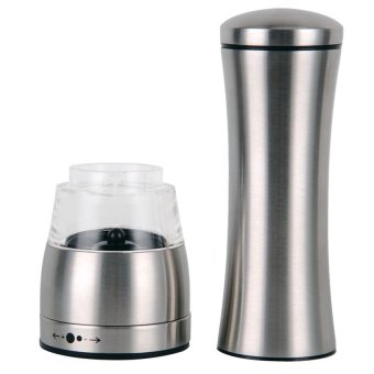 Harga 2016 Best Quality Stainless Steel Manual Salt Spice Pepper Coffee Mill Grinder Muller kitchen Accessories(silver)
