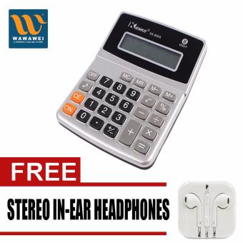 Kenko Electronic Calculator KK-800A (Silver) with free Stereo In-Ear Headphone (Color May Vary) Price Philippines