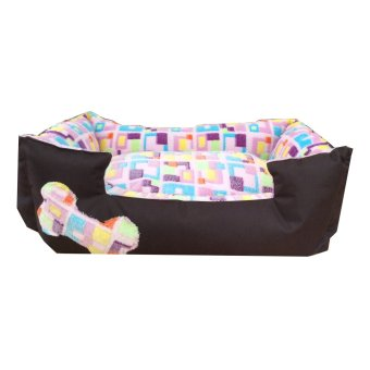Harga Pet Depot Pink Squares Small Dog Bed (Pink)