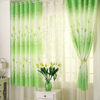 Harga Erpstore Feather Calico Finished Product Cloth Window Screens Curtain - intl