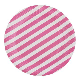Harga Paper Plates (Light Pink Stripes)
