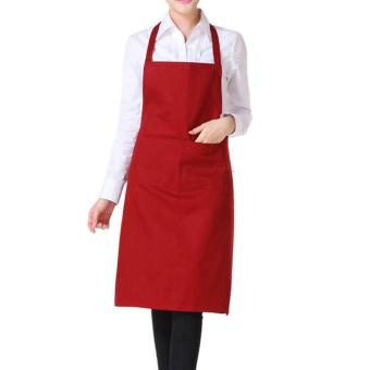 Fashion Light Polyester Kitchen Apron For Women (Red) Price Philippines