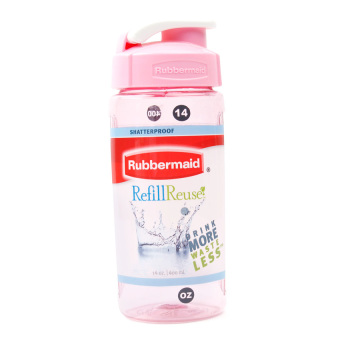 Harga Rubbermaid PC Chug Bottle 400ml.(Pink)