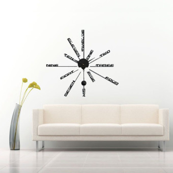 Fashion 3D DIY Home Office Decor Clock Vinyl Stickers Art Time Wall Watch Gift Price Philippines
