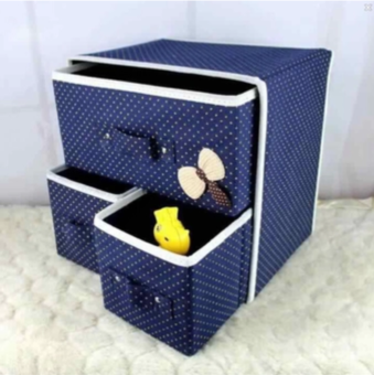 Harga Foldable Woven Clothing Storage Box