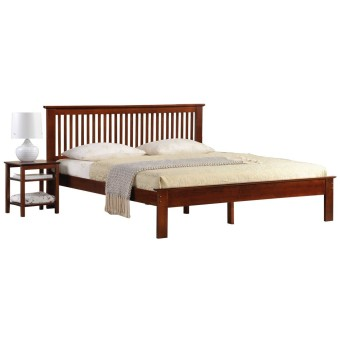 Harga Longlife Howard Double Size Bed Frame Brown