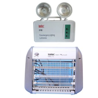 Harga Leetec LED Rechargeable Emergency Light LT-102 with Leetec Mosquito Killer LT-12