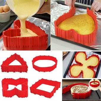 Harga Silicone Cake Mold Cake Pan Magic Bake Snake DIY Baking Mould Tools - intl