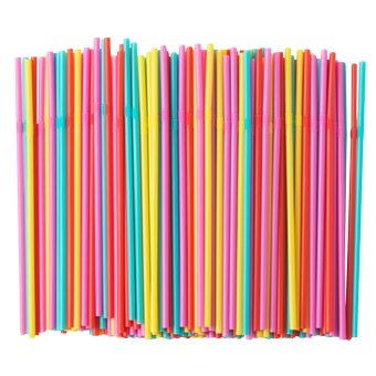 IKEA Soda Flexible Plastic Bendy Mixed Colours Party Disposable Drinking Straws 200 Pcs (Assorted) Price Philippines