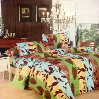 Harga Happy Comfort 3 piece Bedding Collection (Leafybrown)