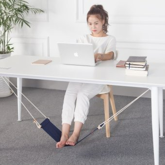 Office Home Desk Foot Hammock Foot Rest Stand Novelty Item (Blue) Price Philippines
