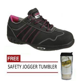 Safety Jogger Ceres S3 High Cut Women Safety Shoes Footwear Composite Toe (Black/Pink) with Free Safety Jogger Tumbler Price Philippines