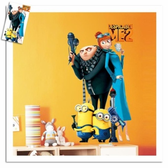 Harga Movie Minions Wall Stickers Kids Room Home Decorations DIY PVC Despicable Me Cartoon Decals Children Gift 3D Mural Art 3.5 - intl