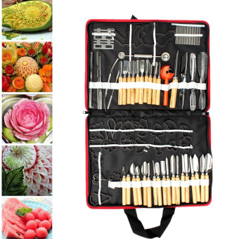 80pcs/Set Portable Vegetable Fruit Food Wood Box Peeling Carving Tools Kit Pack - intl Price Philippines