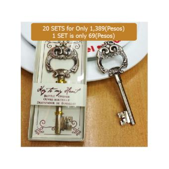 20pcs vintage key wedding favors wedding souvenirs festive party supplies event wine bottle opener Price Philippines