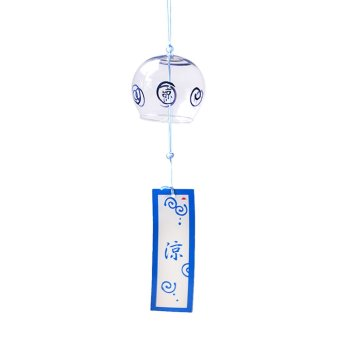 BolehDeals Glass Wind Chime Bell Japenese Style Home Garden Hanging Decor DIY Gift #1 Price Philippines