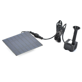 Solar Powered Panel Water Fountain Pool Black Price Philippines