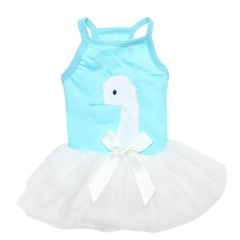 Harga Lovely Cute Puppy Dog Princess Suspenders Skirt Dress (Blue) (L) - intl