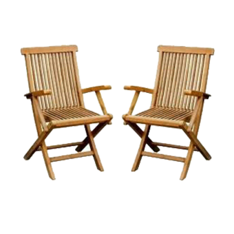 Linden Teak Handcrafted Solid Teak Wood Folding Chair with arm Furniture (Gold Teak Series - indoor design) Price Philippines