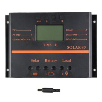 Harga YSMART S80 PWM 80A LCD Display 12V 24V Solar Panel Charge Controller With 5V USB for Solar System Home - intl