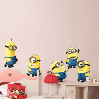 Harga Minions Despicable Me Removable Wall stickers Decal Kids (Intl)