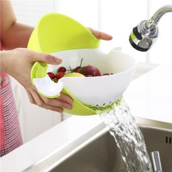 Candy Online Kitchen Multifunction Rotary Drain Basket Creative Practical Double Water Basket Vegetable and Fruit Basin Price Philippines