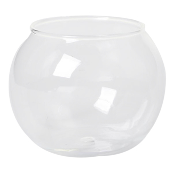 BolehDeals Round Transparent Crystal Glass Bowl Clear Sphere Vase Fish Tank Water Jar - intl Price Philippines