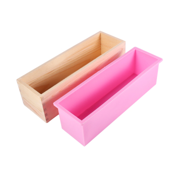 Harga Rectangle Silicone Liner Soap Mould Wooden Box DIY Making Tool Bake Cake Bread Toast Mold - intl