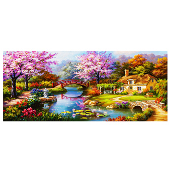 DIY 5D Community Pom Diamond Sticker Painting Home Decor - Intl Price Philippines