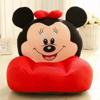 Harga J&J Mickey Mouse Plush Toy Sofa Baby Love (Red)