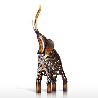 Metal Weaving Elephant Tooarts Iron Sculpture Home Decoration Crafts Animal Sculpture - intl Price Philippines