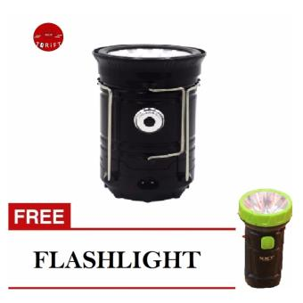 Harga SHOP AND THRIFT Solar Camping Lamp Rechargeable Lantern with FREE Flashlight