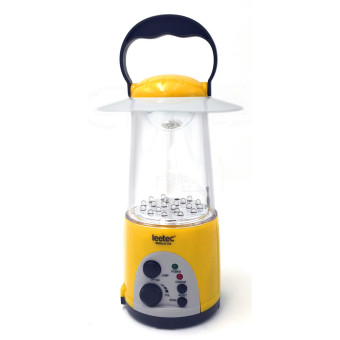 Harga Leetec LT-163 Rechargeable Emergency Lantern with FM Scan Radio (Yellow)