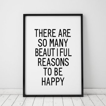 Inspiration Life Quote Wall Art Print Poster, Wall Pictures For Home Decoration, Frame Not Include Canvas Art FA40 Price Philippines