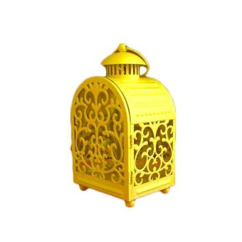 Harga Cage Retro Candle Night Light Lantern - Yellow