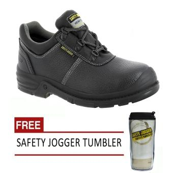 Safety Jogger Bestrun S3 Low Cut Men Safety Shoes Footwear Steel Toe (Black/Gray) with Free Safety Jogger Tumbler Price Philippines