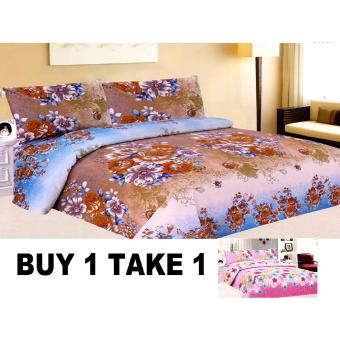 BUY 1 TAKE 1 3-Piece Queen Size Bedding with Luxury Cotton Feel- Nostalgia and Gardens of Fairies Series by Manhattan Homemaker Price Philippines