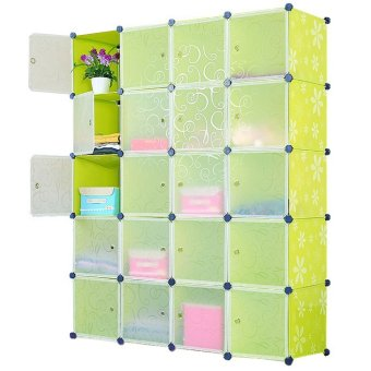 Harga D&D JH-DIY20 Cells DIY Storage Cabinet Magic Piece Free Combination (Daisy Green)