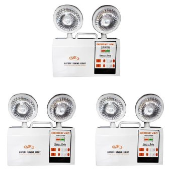 NSL H14-NSL12 Emergency Light Set of 3 (White) Price Philippines