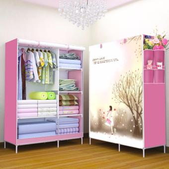 Harga GMY Quality Fashion 3D Panoramic View Simple Wardrobe (Oh My Love)