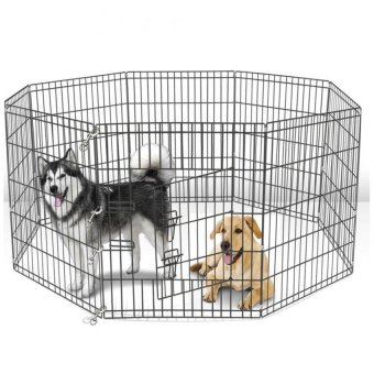 Harga Playpen Fence 8 panel Dog Cat 36inch (Black)