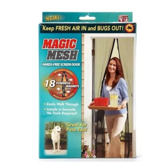 Harga Magic Mesh Magnetic Curtain Net - Anti Mosquito Bug and Insect - Intl