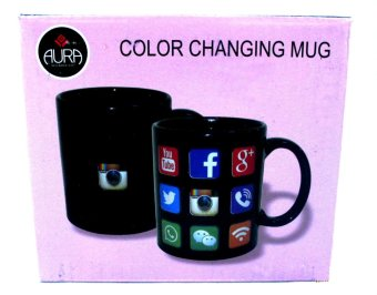 Harga AURA Heat Activated Design Social Media Mug (black)
