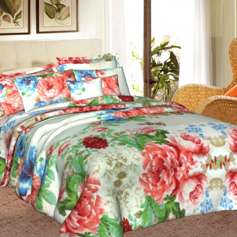 "Sleep Essentials Blossom Series Hyacinth 3 Piece Bedding Set (Fits 3"" to 6"" Bed Cushion) Price Philippines"