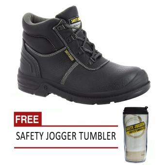 Safety Jogger Bestboy S3 High Cut Men Safety Shoes Footwear Steel Toe (Black/Gray) with Free Safety Jogger Tumbler Price Philippines