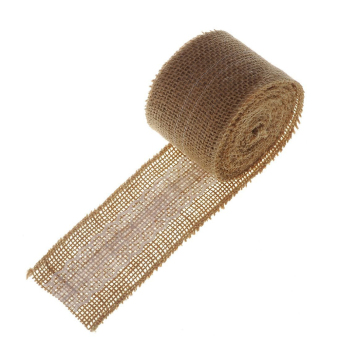 10M Hessian Jute Lace Craft Ribbon for DIY Crafts Home Wedding Decor (Beige/White) Price Philippines